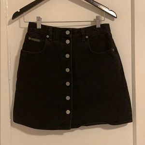 Calvin Klein high-waisted denim skirt